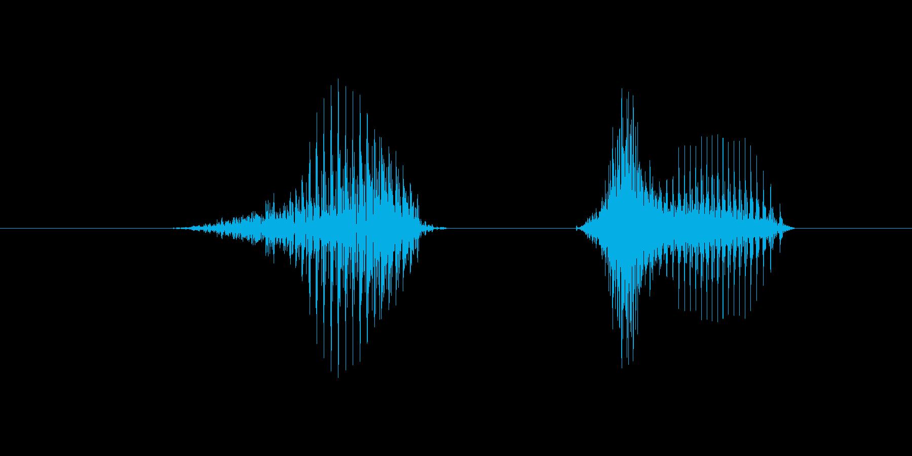 8(数字、女性)の再生済みの波形