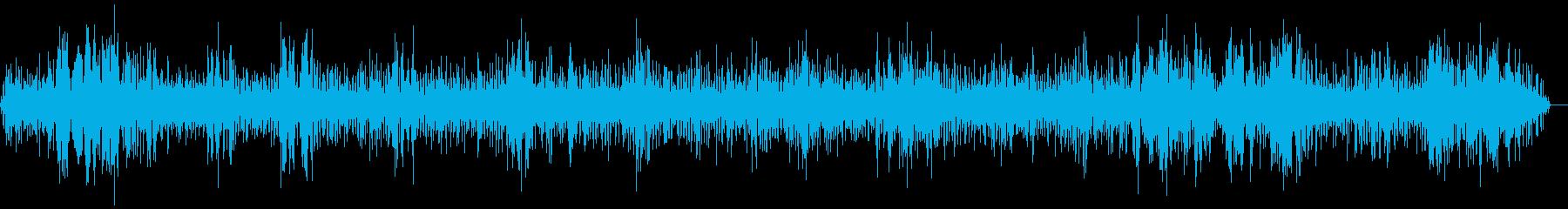 【ザー】電波の悪い無線ノイズ音の再生済みの波形