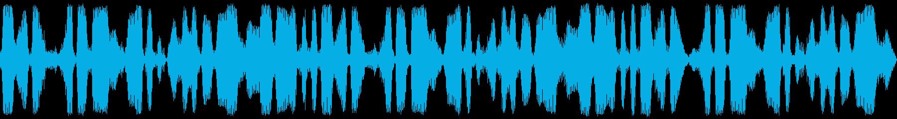 ループ再生可能!3分間の鈴虫・環境音の再生済みの波形