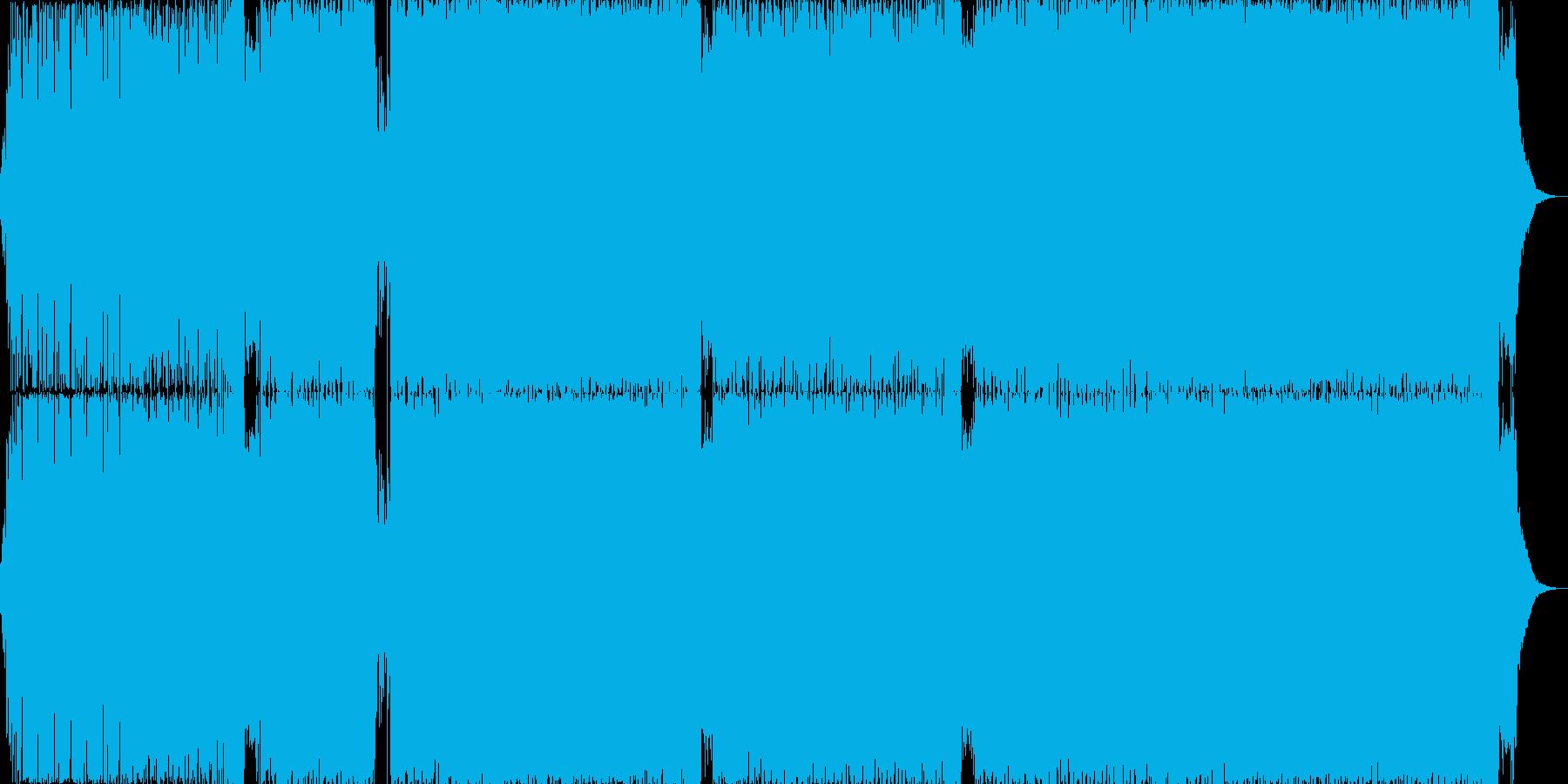 激しいゴリゴリのインストEDM曲ですの再生済みの波形