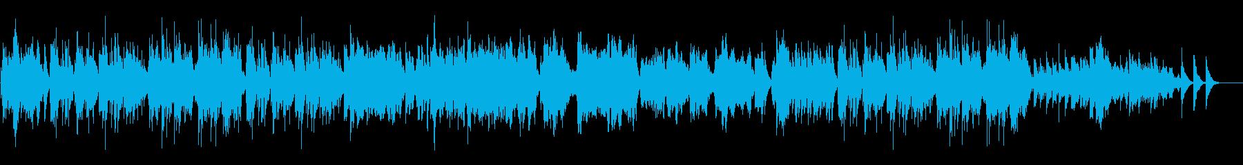 和風の軽やかな琴のアンサンブルの再生済みの波形
