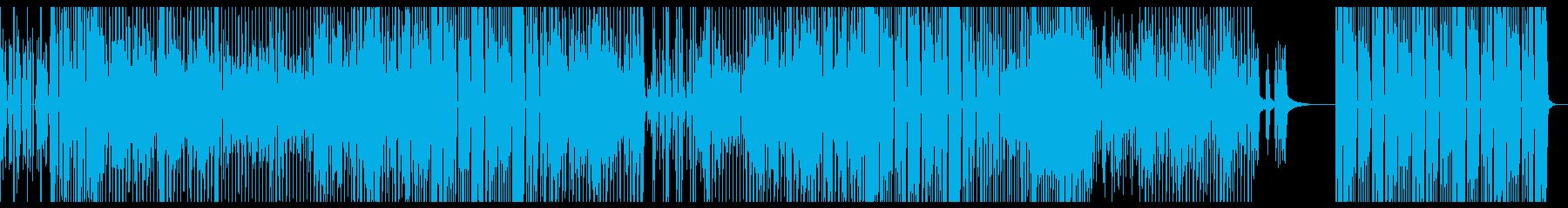 ファンキーで軽快なテクノポップの再生済みの波形
