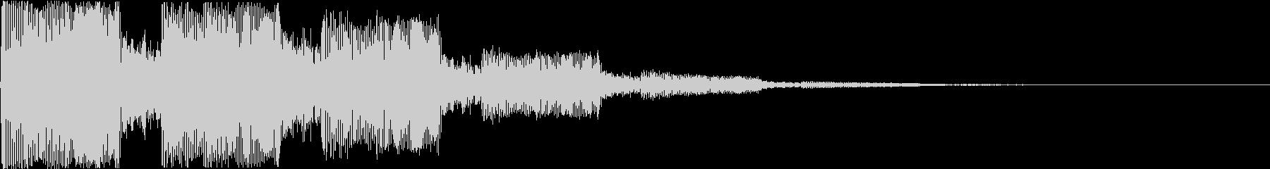 キュイーン:レトロなワープ音・瞬間移動cの未再生の波形