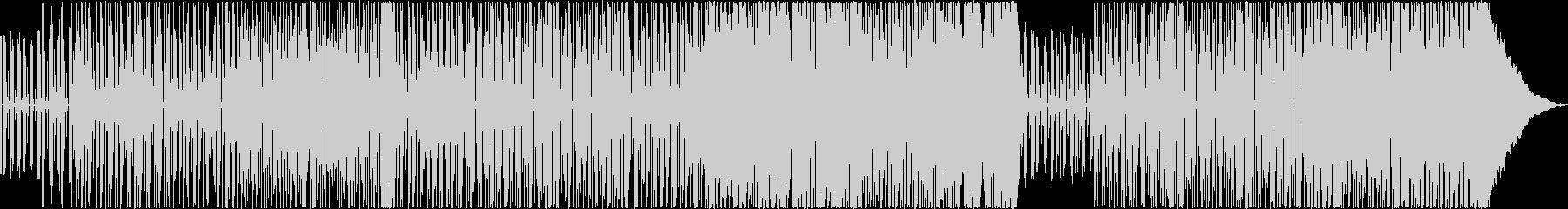 軽快なエレキギターのゆったりめのBGMの未再生の波形