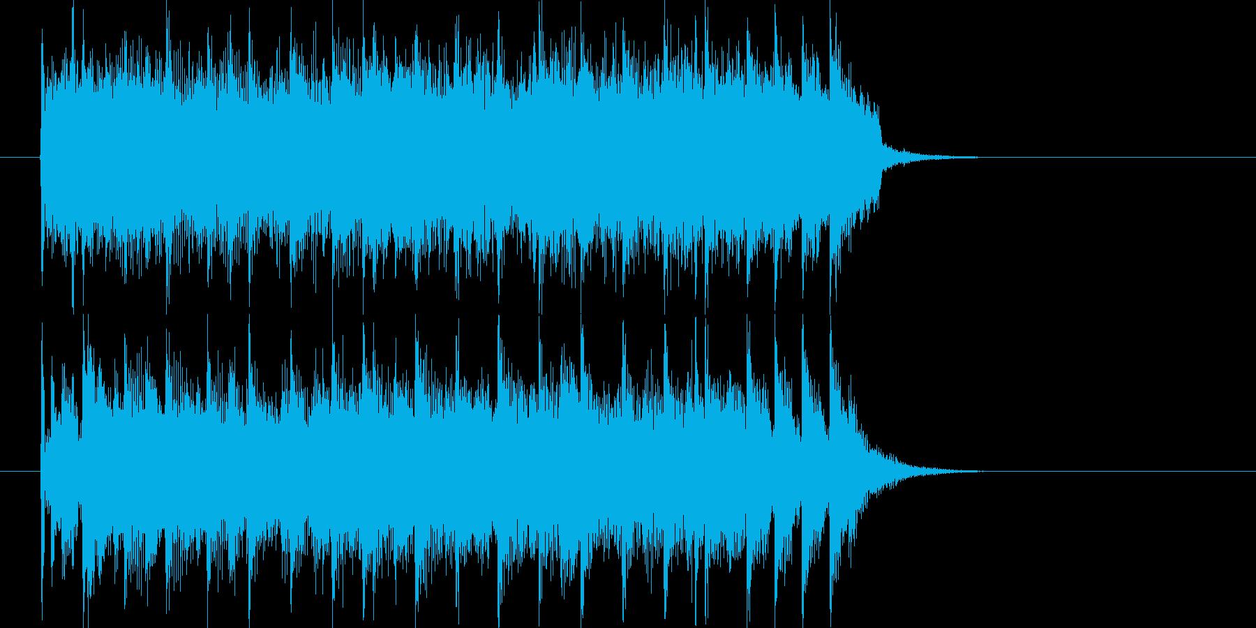 穏やかで流暢なポップジングルの再生済みの波形