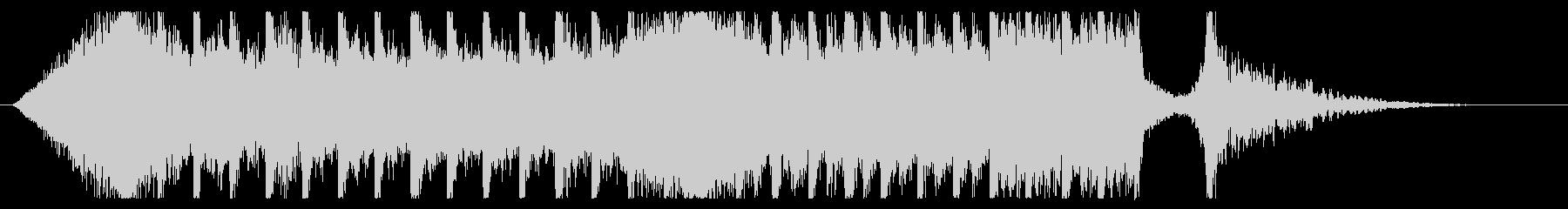 切ないきらきらピアノジングル③ 映画風の未再生の波形