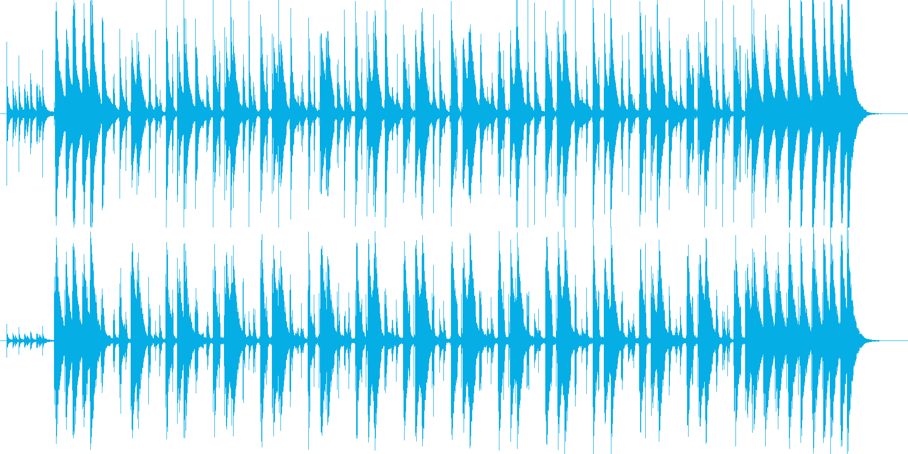 コンガの躍動するリズムLa Bomba1の再生済みの波形