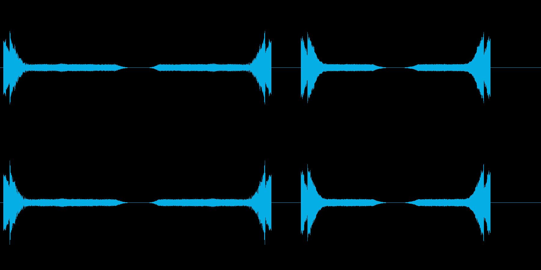 SPARKLES 2のさまざまな効果の再生済みの波形