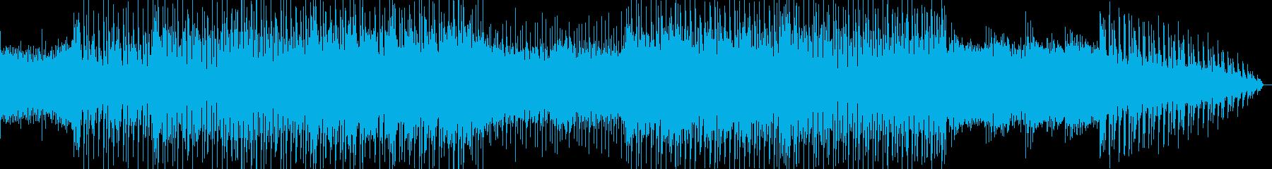 明るく優しく弾ける感じのポップス曲の再生済みの波形