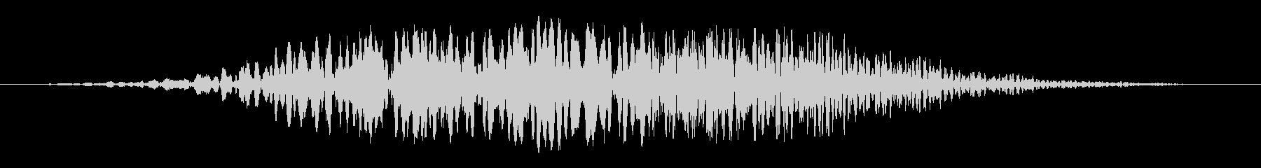 シンセ風の上昇する音の未再生の波形