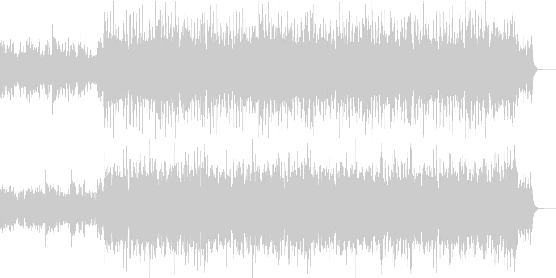 ドラマチックなサウンドの未再生の波形