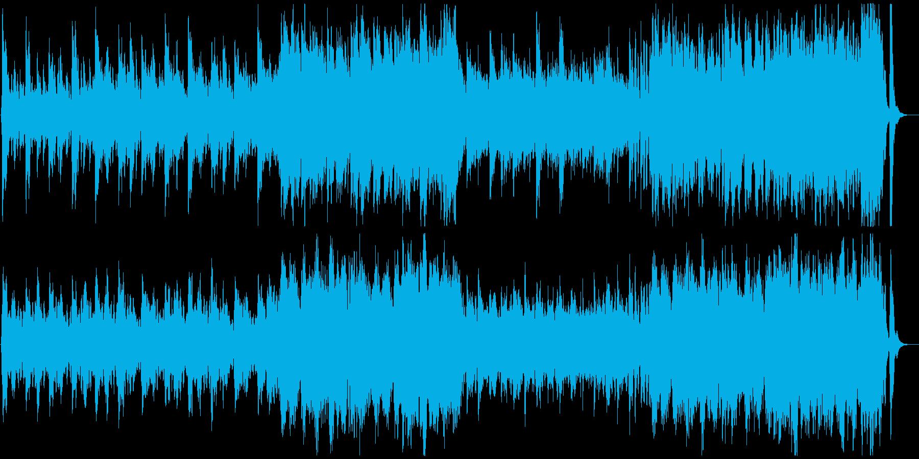 明るく上品なクラシックオーケストラの再生済みの波形