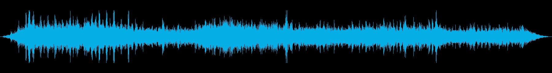 地下鉄の車のクランクの再生済みの波形