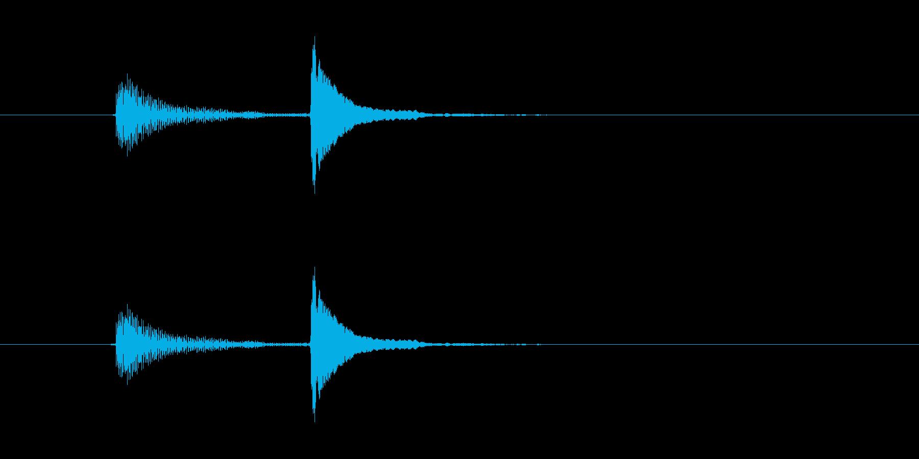 「ポコッ(軽い打撃音)」の再生済みの波形