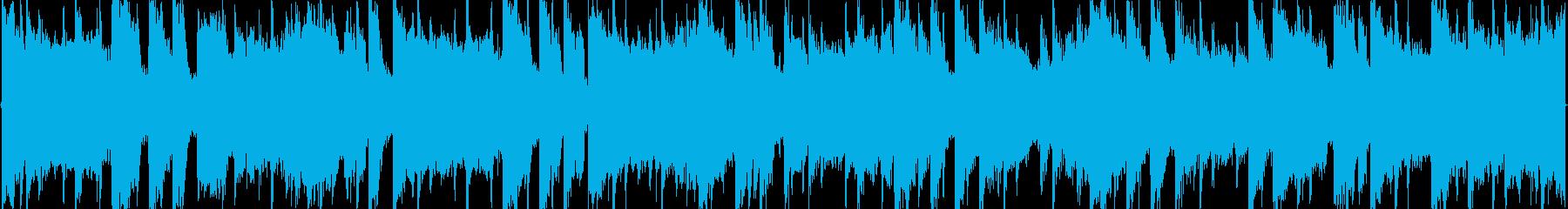 シンセリードをフィーチャーした楽曲の再生済みの波形