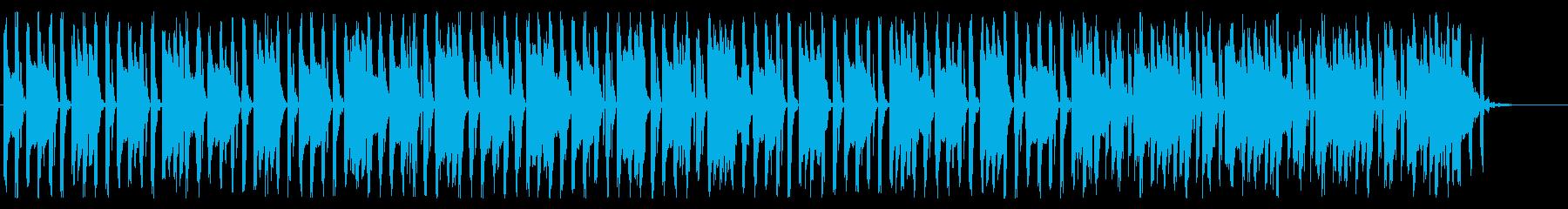 クラシック調の8bitチップチューンの再生済みの波形