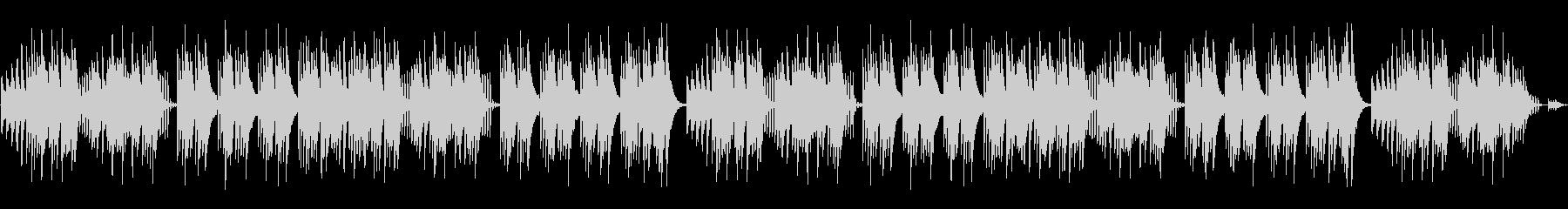 キュートでほのぼのした楽曲B:編集1の未再生の波形