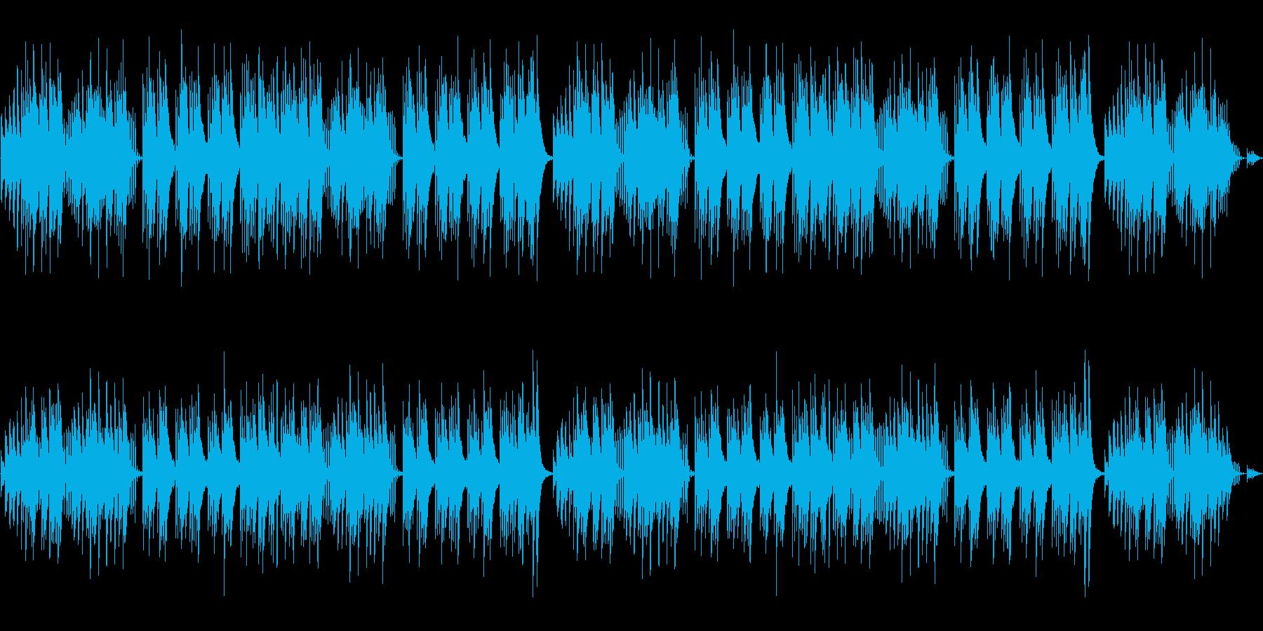 キュートでほのぼのした楽曲B:編集1の再生済みの波形