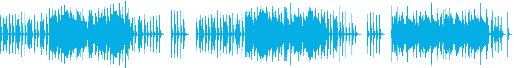 オーボエのコミカルな曲の再生済みの波形