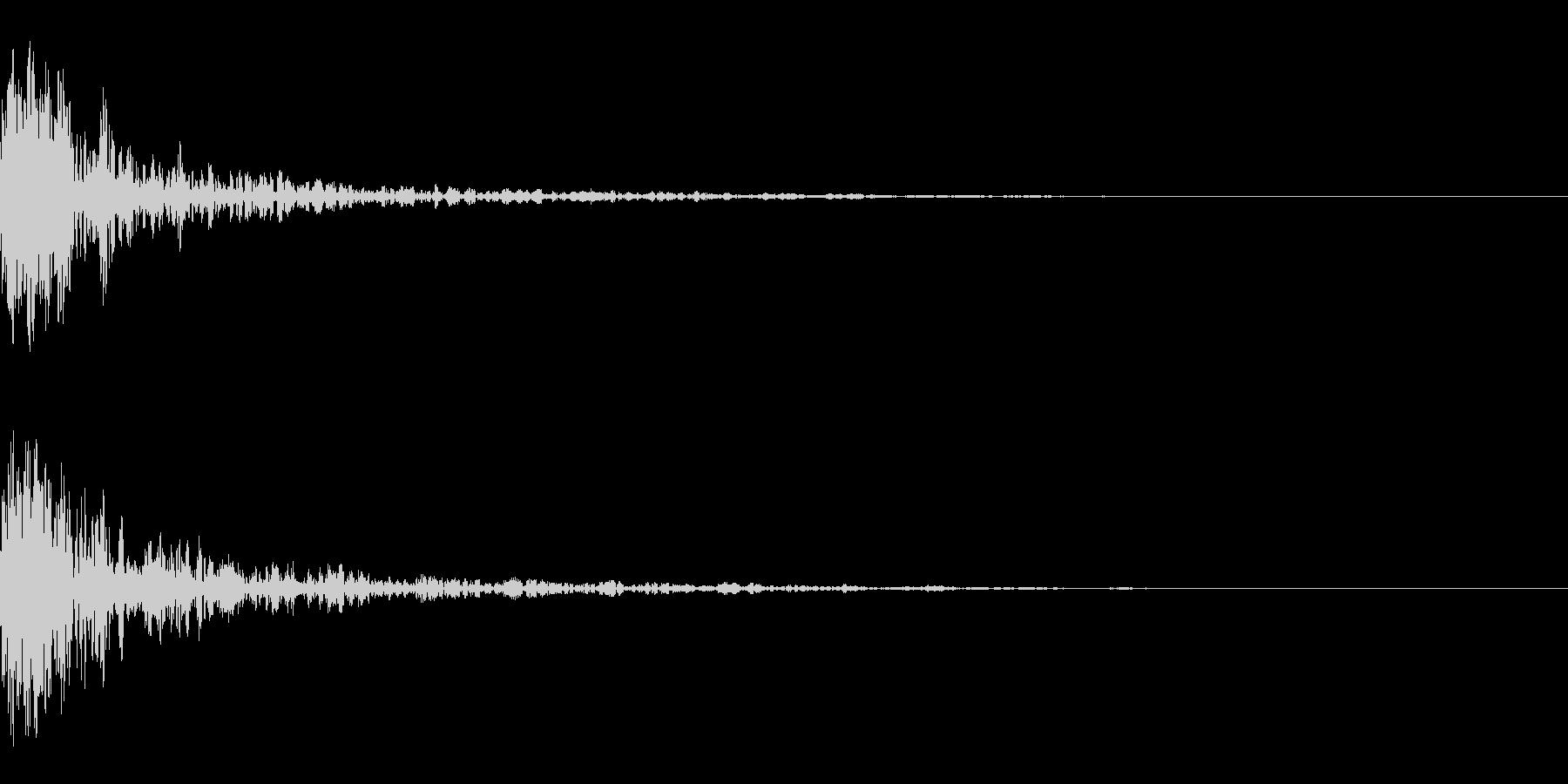 ドーン-52-1(インパクト音)の未再生の波形