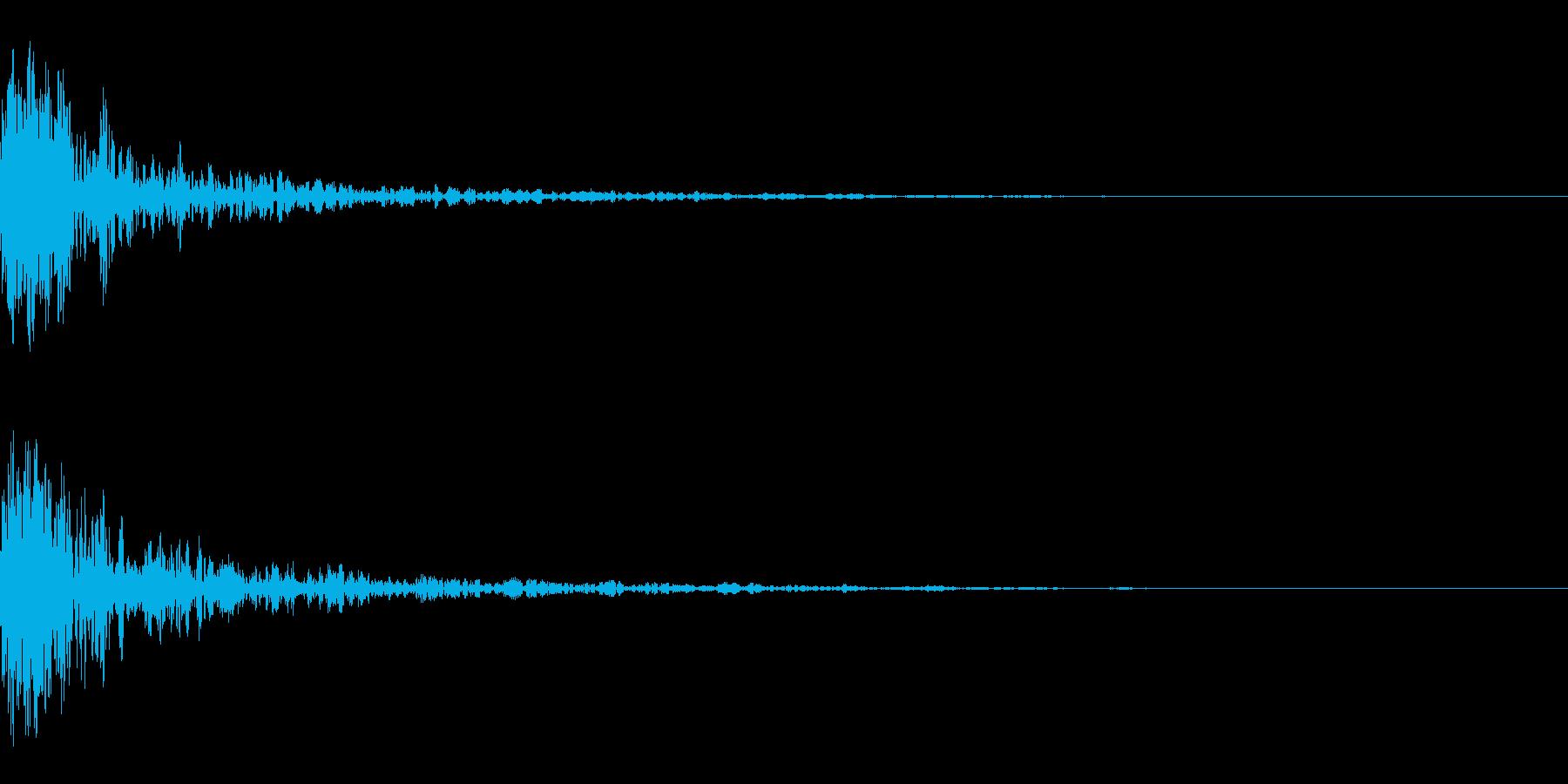 ドーン-52-1(インパクト音)の再生済みの波形