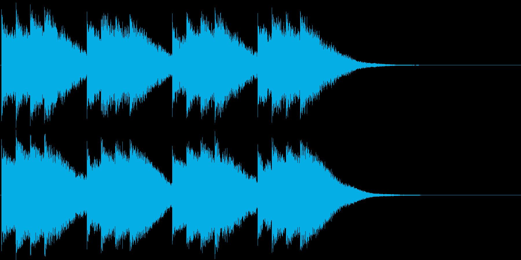 キンコンカンコン。学校のチャイム(高)の再生済みの波形