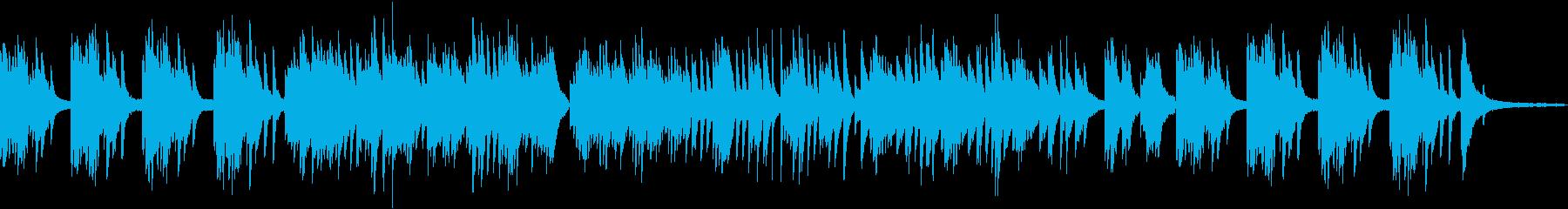 感傷的な雰囲気のピアノソロバラードの再生済みの波形