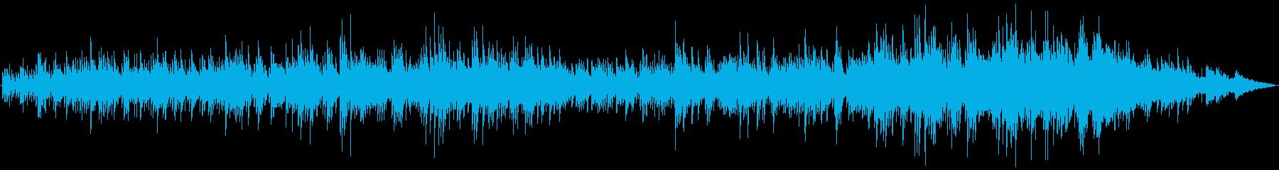 ギターとピアノによる穏やかなバラードの再生済みの波形