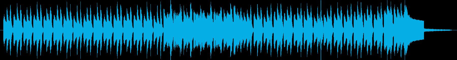 ほのぼのしたリコーダーのワルツの再生済みの波形