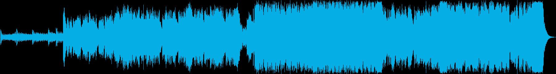 かっこいい勇敢なシンフォニックBGMの再生済みの波形