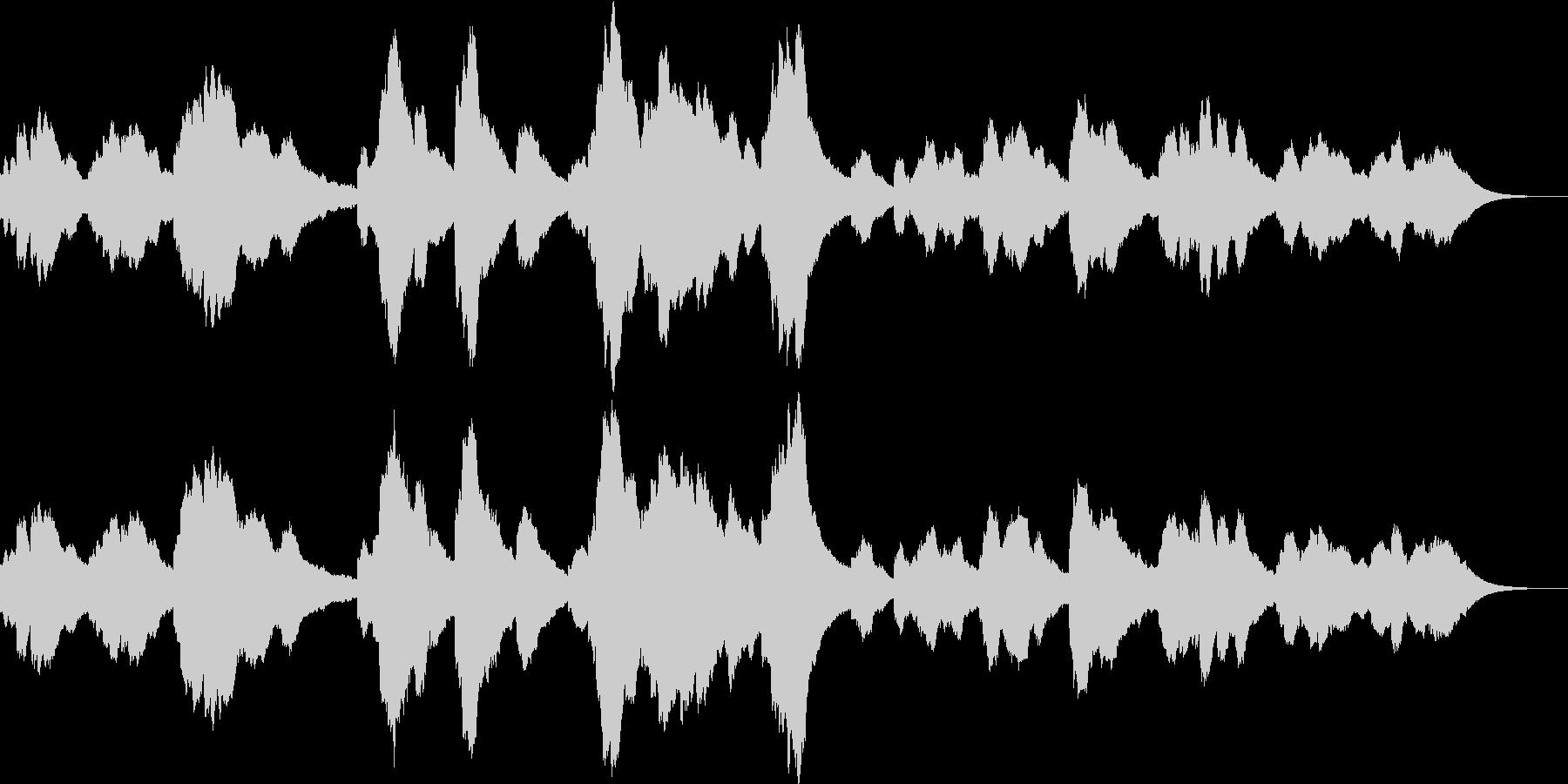夜のイメージのシンセサイザー音楽ですの未再生の波形