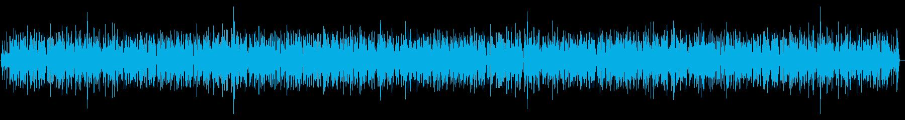 まったりとした感じのピアノBGMの再生済みの波形