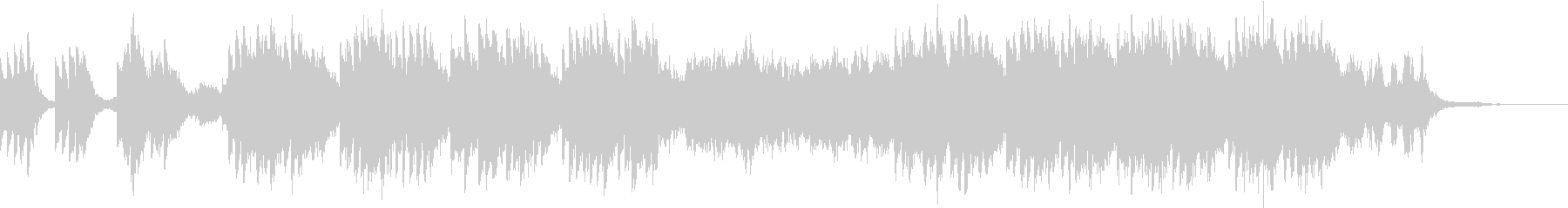 不気味で不穏な雰囲気のホラーBGMの未再生の波形