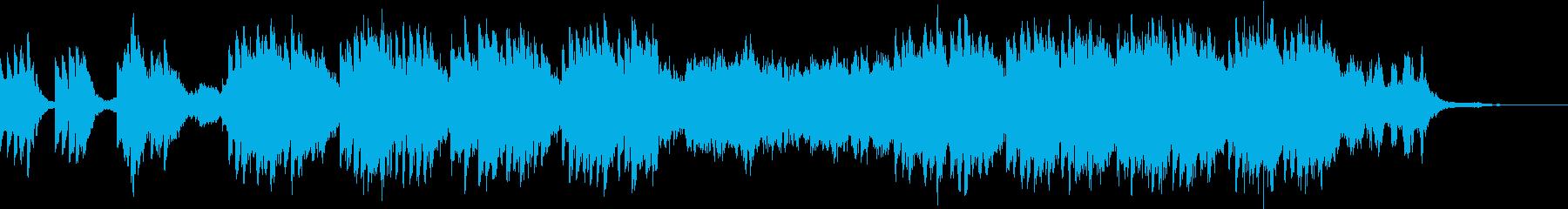 不気味で不穏な雰囲気のホラーBGMの再生済みの波形