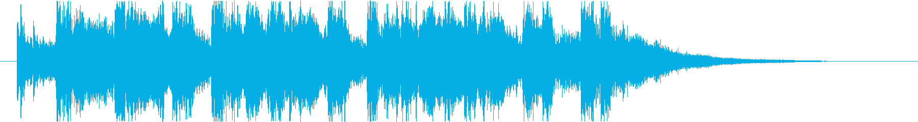 ゲームクリアファンファーレ・オーケストラの再生済みの波形