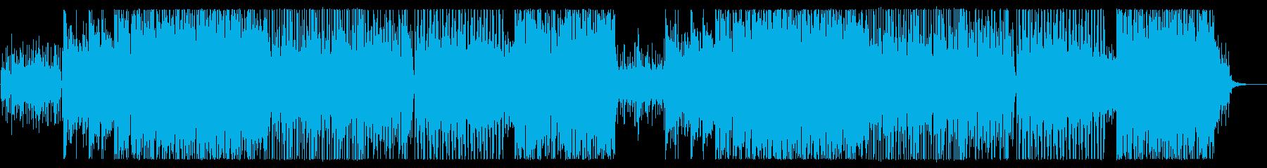 軽快でリズミカルなスピード感あるテクノの再生済みの波形