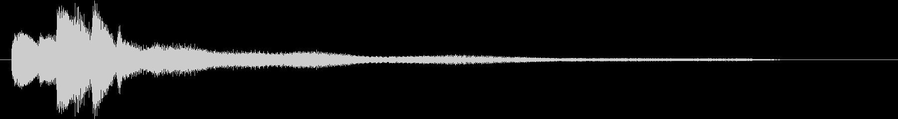 ピアノとマリンバによる分散音の未再生の波形