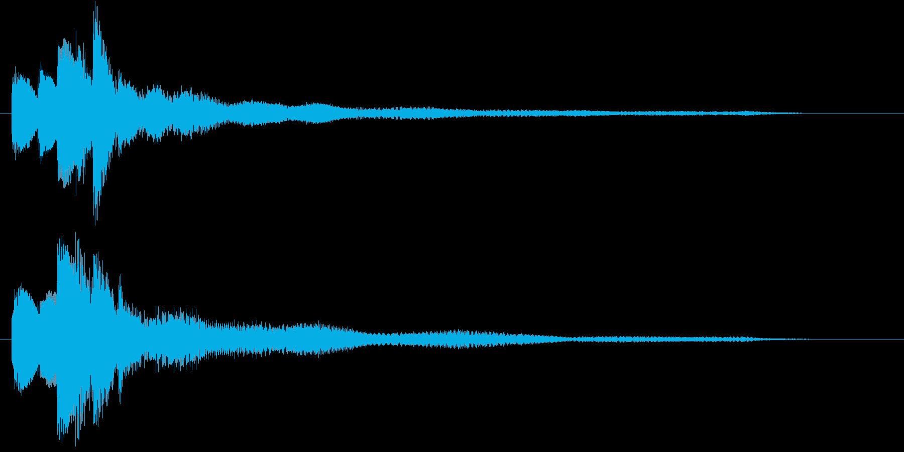 ピアノとマリンバによる分散音の再生済みの波形