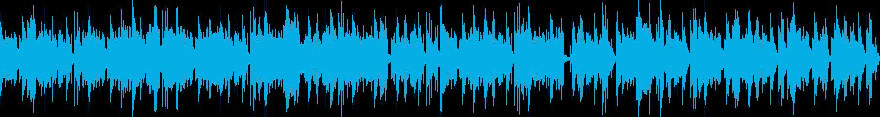 無骨重低音機械的ブイブイループBGMの再生済みの波形