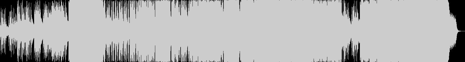 悲しみのピアノ&ドラム・ロックバラードの未再生の波形