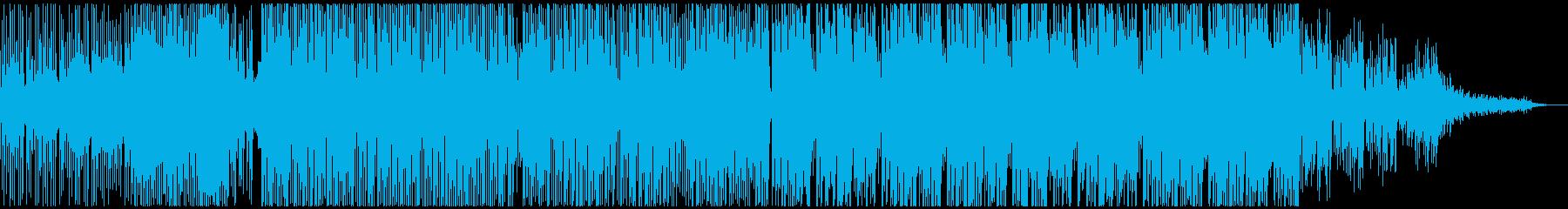 ハードでダークなエレクトロサウンドの再生済みの波形