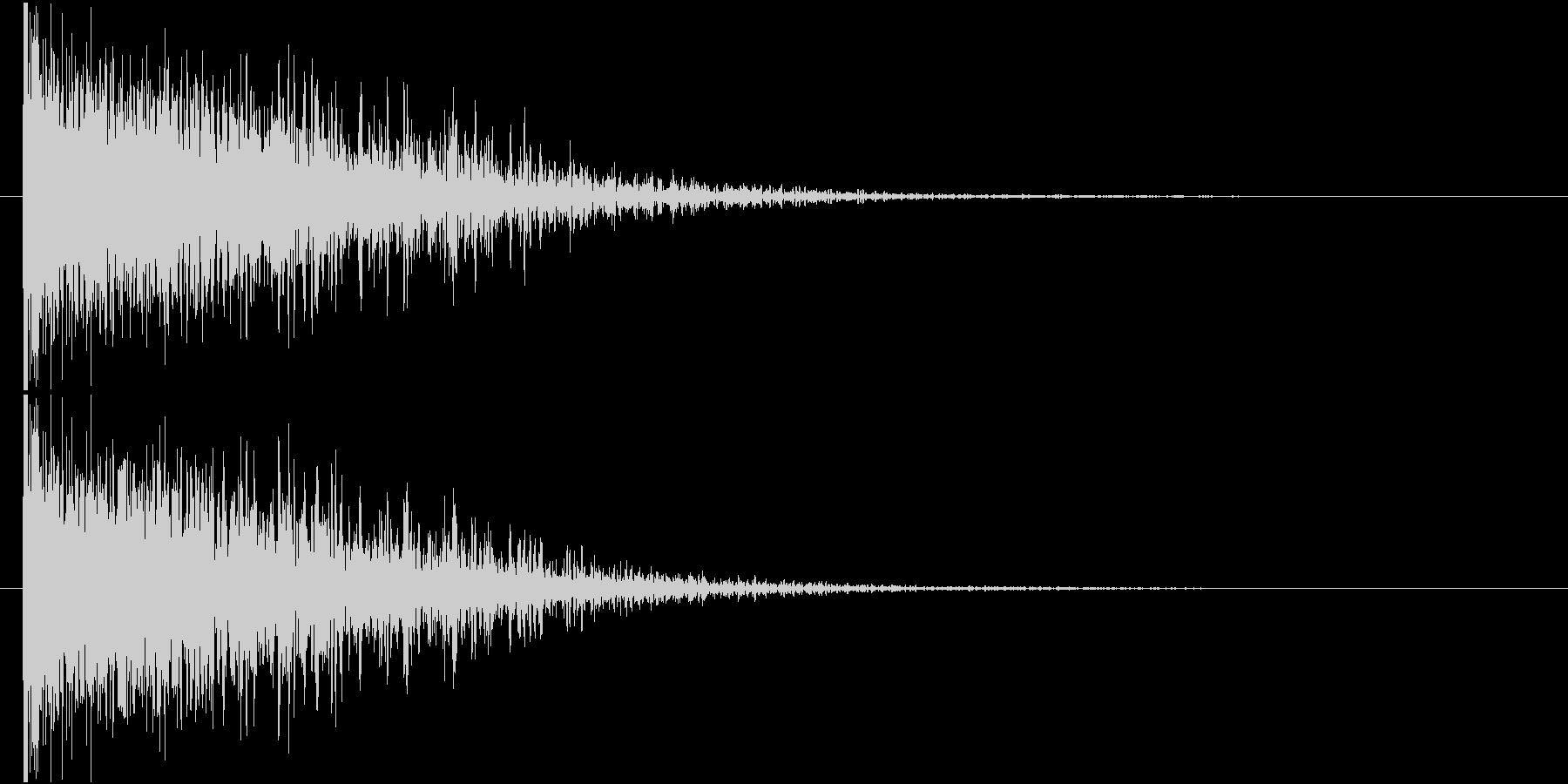 ドォーン 鈍い 衝撃音 爆発音の未再生の波形