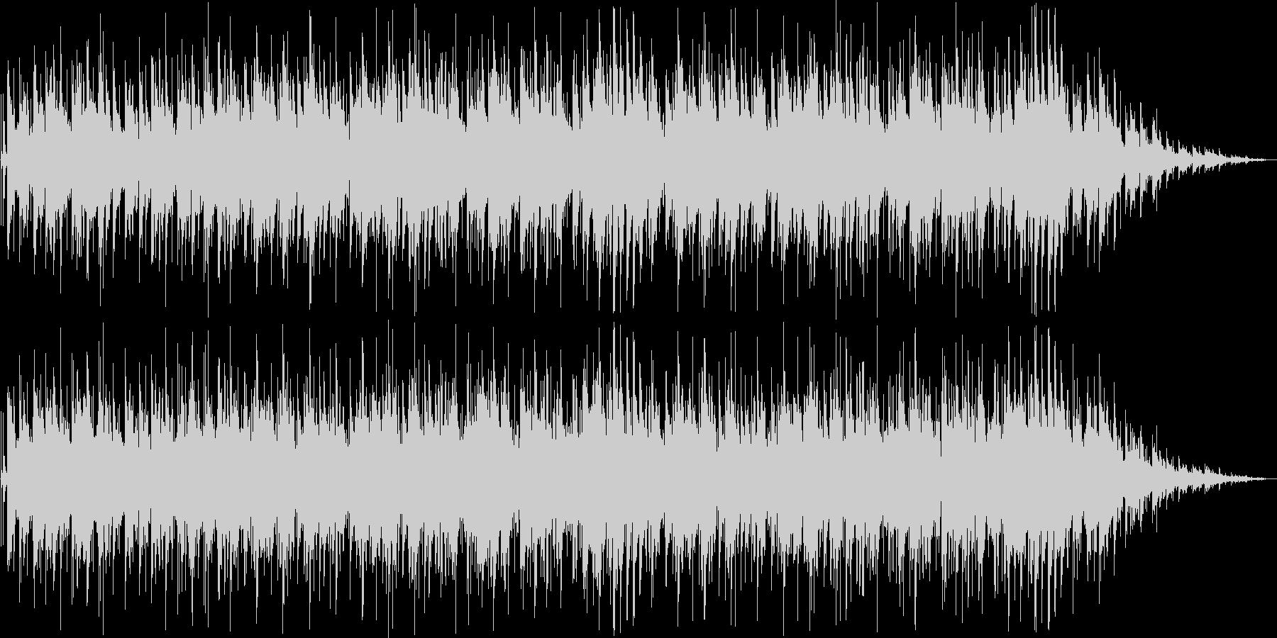 ゆったりしたピアノ・シンセサイザー曲の未再生の波形
