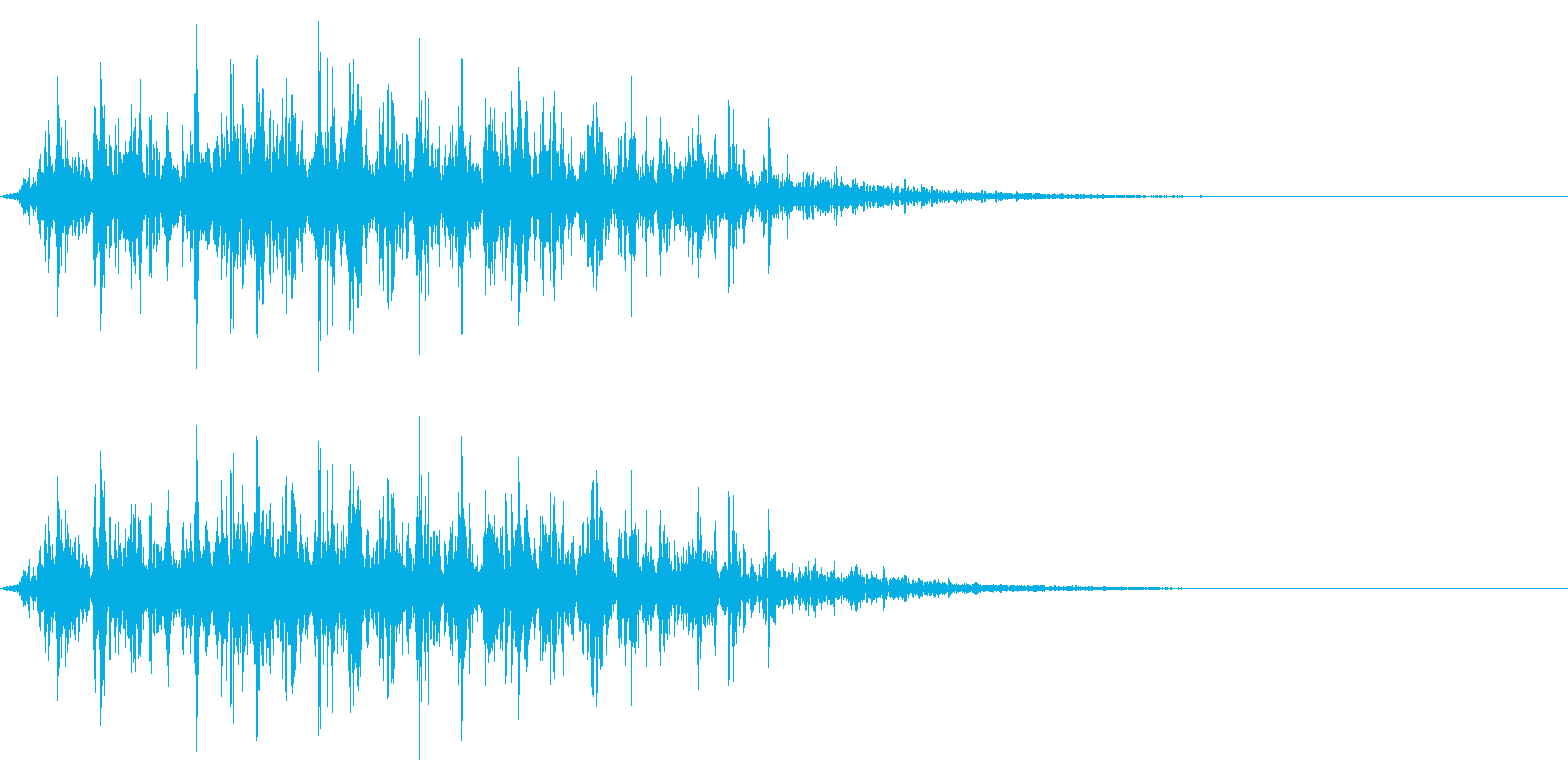 シャラシャラ(広がる鈴の音)の再生済みの波形