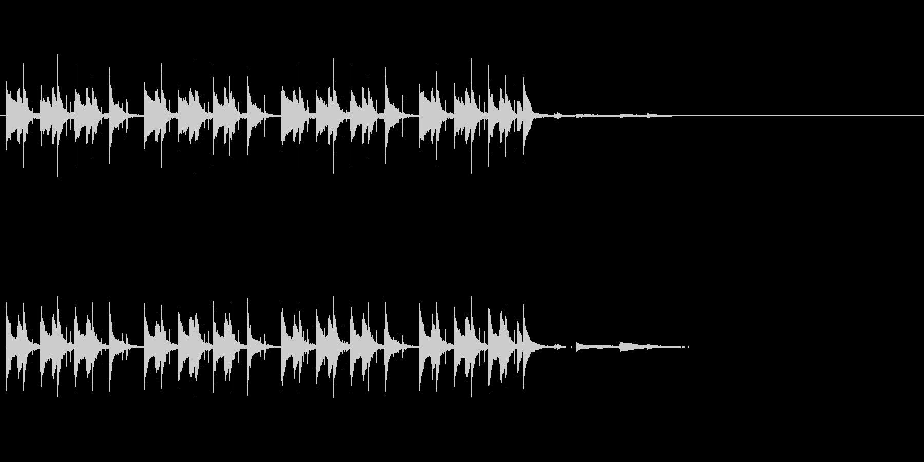 かわいい軽やかなピアノジングルの未再生の波形