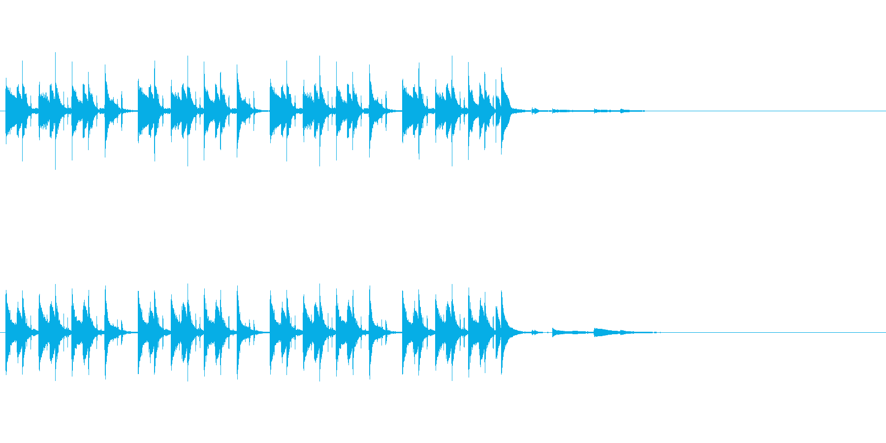 かわいい軽やかなピアノジングルの再生済みの波形