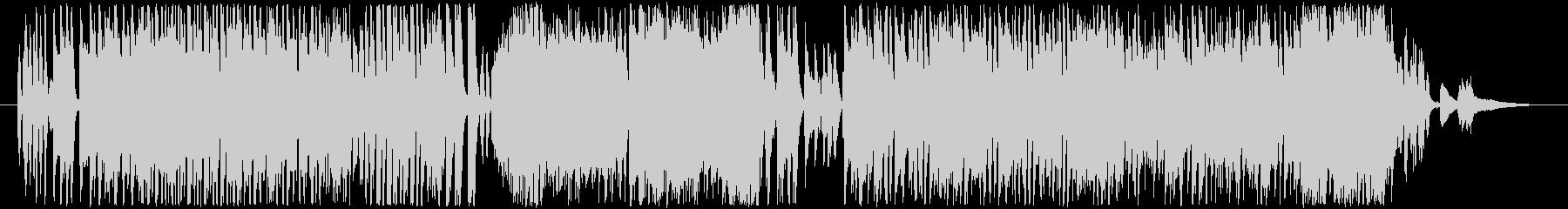 ピアノによるパワフルなサンバの未再生の波形