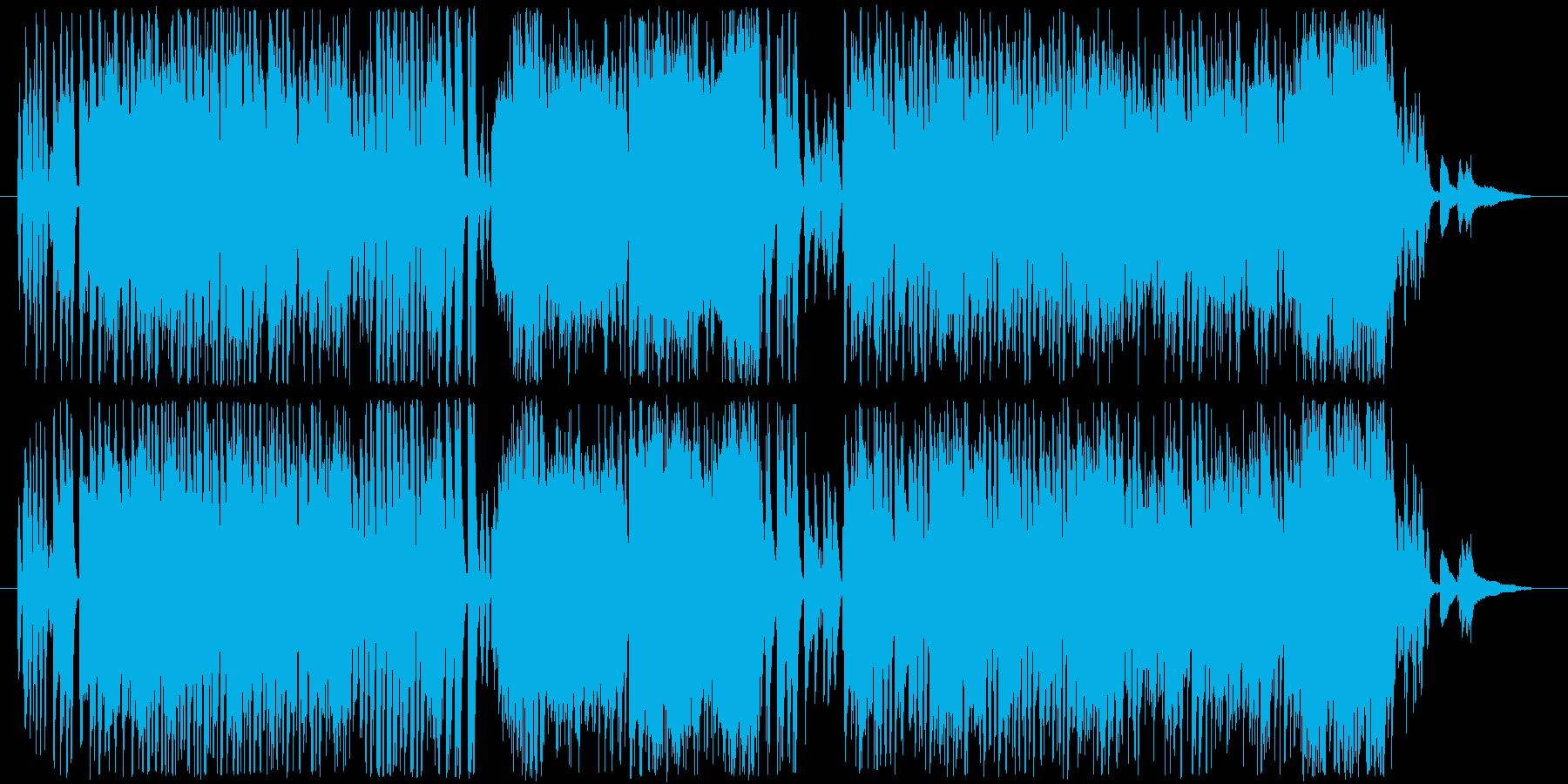 ピアノによるパワフルなサンバの再生済みの波形