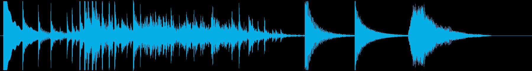 民族楽器パーカッション ジャラーンの再生済みの波形