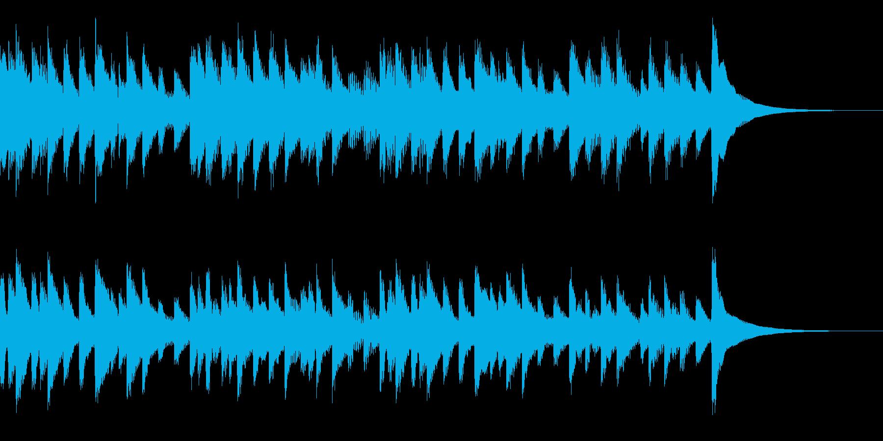 ほのぼのした雰囲気のマリンバの曲の再生済みの波形